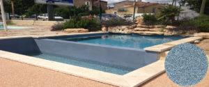 cristalline piscine blue lagoon avec revêtement AQUABRIGHT